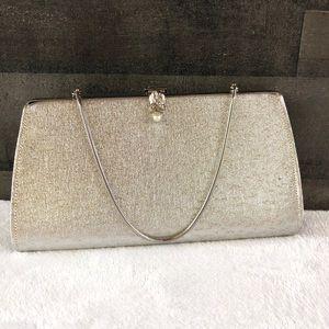 50's/60's Vintage silver clutch handbag